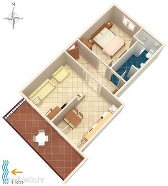 Rovinj, Plan in the apartment, WIFI.