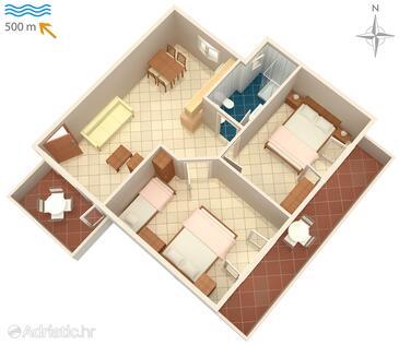 Umag, План в размещении типа apartment, WiFi.