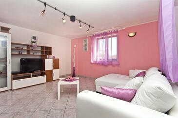 Sveti Petar u Šumi, Obývací pokoj v ubytování typu house, dostupna klima, dopusteni kucni ljubimci i WIFI.