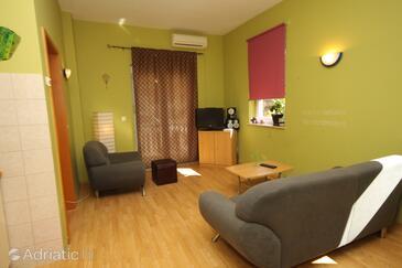 Medulin, Living room in the apartment, dostupna klima i WIFI.
