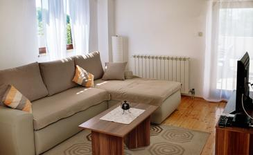 Fažana, Living room in the apartment, dostupna klima i WIFI.