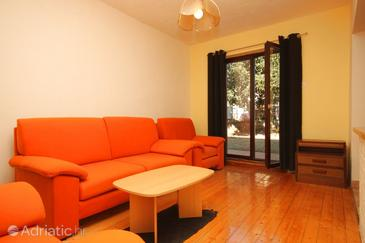 Medulin, Living room 1 in the apartment, dostupna klima, dopusteni kucni ljubimci i WIFI.