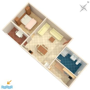 Medulin, Grundriss in folgender Unterkunftsart apartment, WIFI.