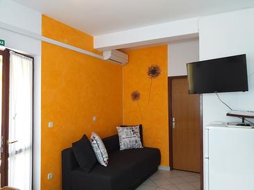 Fažana, Living room in the apartment, dopusteni kucni ljubimci i WIFI.