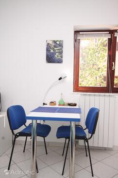 Fažana, Столовая в размещении типа studio-apartment, доступный кондиционер, Домашние животные допускаются и WiFi.