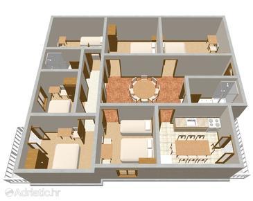 Mirca, Plan in the apartment, dopusteni kucni ljubimci.