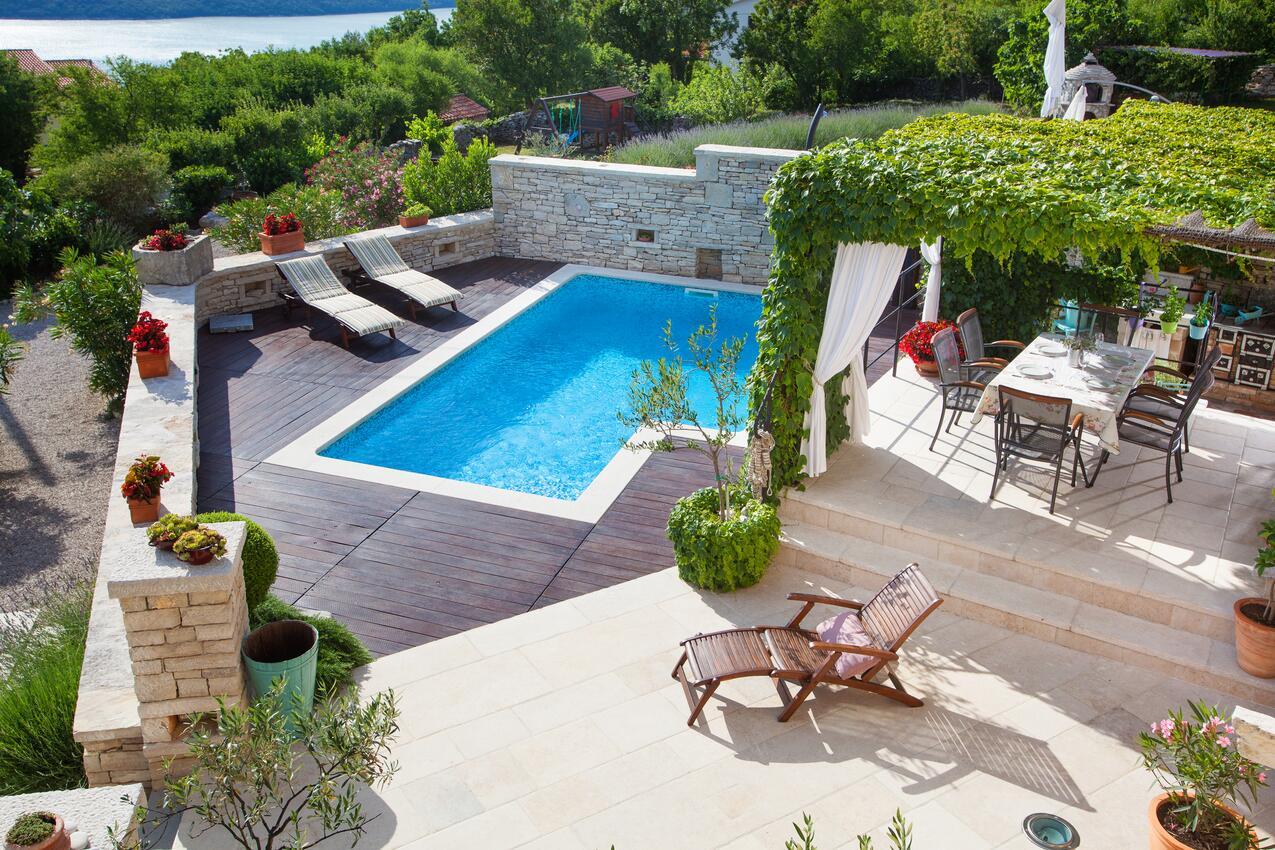 Istrie vila bazén