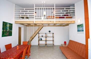 Fažana, Obývací pokoj v ubytování typu apartment, WiFi.