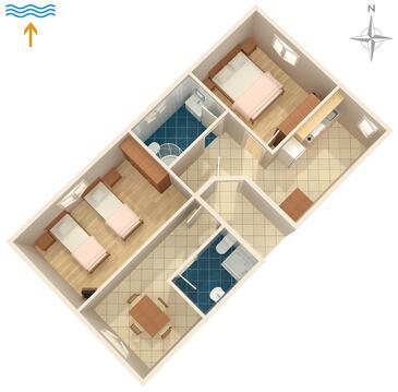 Valbandon, Půdorys v ubytování typu apartment, WiFi.