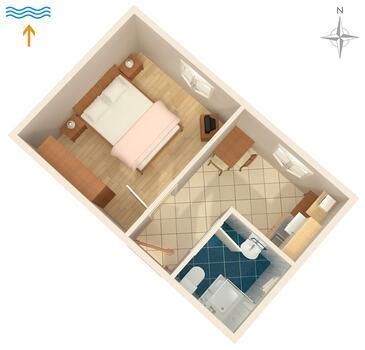 Valbandon, Plan kwatery w zakwaterowaniu typu apartment, WIFI.