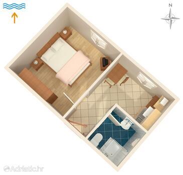Valbandon, Alaprajz szállásegység típusa apartment, WiFi .