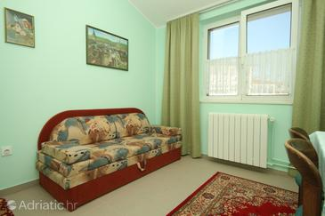 Štinjan, Living room in the apartment.