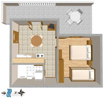 Postira, Načrt v nastanitvi vrste apartment, Hišni ljubljenčki dovoljeni in WiFi.