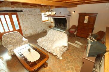 Štokovci, Pokój dzienny w zakwaterowaniu typu house, dostupna klima, dopusteni kucni ljubimci i WIFI.