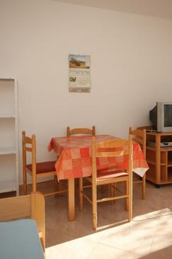 Zambratija, Dining room in the apartment.