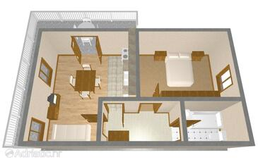 Mirca, Plan in the apartment, (pet friendly).