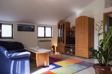 Medulin, Obývacia izba v ubytovacej jednotke apartment, WIFI.