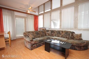Pula, Living room in the apartment, dostupna klima i dopusteni kucni ljubimci.