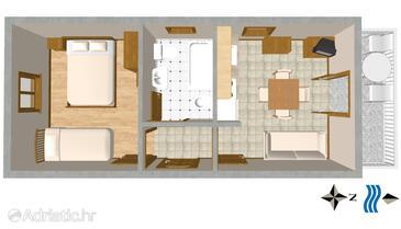 Mirca, План в размещении типа apartment, WiFi.