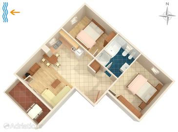 Fažana, Plan in the apartment, WIFI.