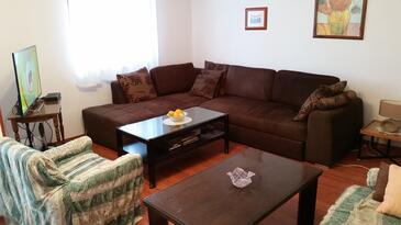 Valbandon, Pokój dzienny w zakwaterowaniu typu apartment, Dostępna klimatyzacja i WiFi.