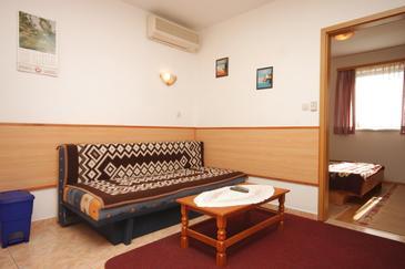 Pula, Pokój dzienny w zakwaterowaniu typu apartment, dostupna klima.