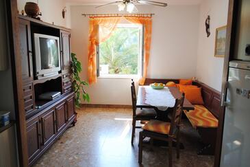 Milna, Blagovaonica u smještaju tipa apartment, kućni ljubimci dozvoljeni i WiFi.