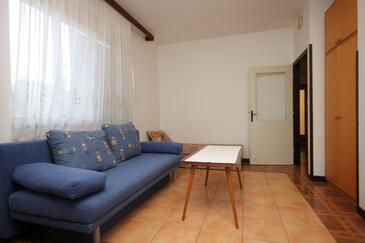 Medulin, Pokój dzienny w zakwaterowaniu typu apartment, zwierzęta domowe są dozwolone i WiFi.