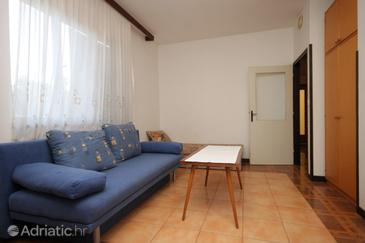 Medulin, Living room in the apartment, dopusteni kucni ljubimci i WIFI.