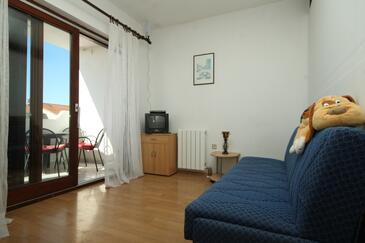 Valbandon, Obývací pokoj v ubytování typu apartment, WiFi.