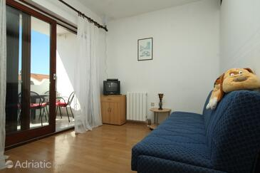 Valbandon, Salon dans l'hébergement en type apartment, WiFi.