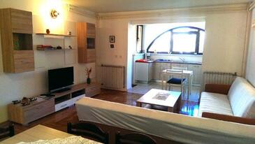 Štinjan, Living room in the apartment, air condition available, (pet friendly) and WiFi.
