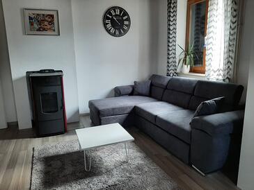 Postira, Гостиная в размещении типа apartment, доступный кондиционер, Домашние животные допускаются и WiFi.