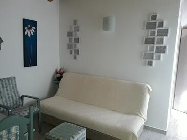 Pomer, Obývací pokoj v ubytování typu apartment, domácí mazlíčci povoleni a WiFi.