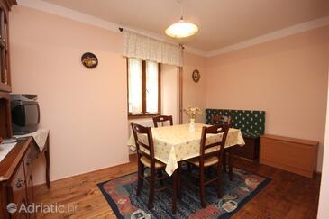 Sveti Martin, Dining room in the apartment.