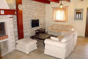 Loborika, Pokój dzienny w zakwaterowaniu typu house, dostupna klima, dopusteni kucni ljubimci i WIFI.