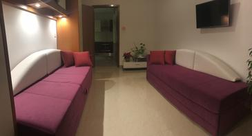 Rabac, Living room in the apartment, WIFI.