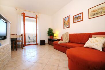 Ravni, Living room in the apartment, dopusteni kucni ljubimci i WIFI.