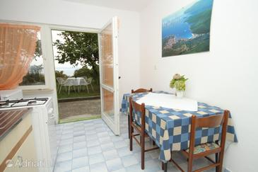 Labin, Dining room in the studio-apartment, dopusteni kucni ljubimci i WIFI.