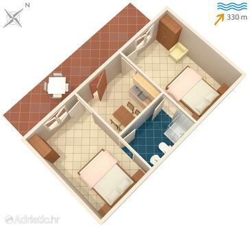 Sutivan, План в размещении типа apartment, WiFi.