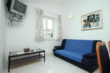 Rabac, Living room in the apartment, dostupna klima i WIFI.