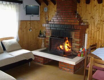 Pučišća, Obývacia izba 1 v ubytovacej jednotke house, domáci miláčikovia povolení.