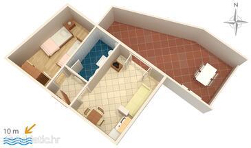 Pisak, Plan in the apartment, dopusteni kucni ljubimci i WIFI.