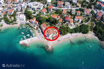 Pisak, Omiš, Objekt 7520 - Ubytování v blízkosti moře s oblázkovou pláží.