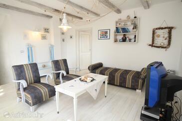 Škrapi, Living room in the house, dostupna klima, dopusteni kucni ljubimci i WIFI.