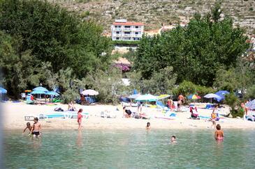 Duće, Omiš, Objekt 7532 - Ubytování s písčitou pláží.