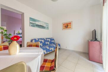 Bušinci, Living room in the apartment, air condition available, (pet friendly) and WiFi.