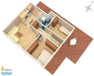 Split, Načrt v nastanitvi vrste apartment, WiFi.