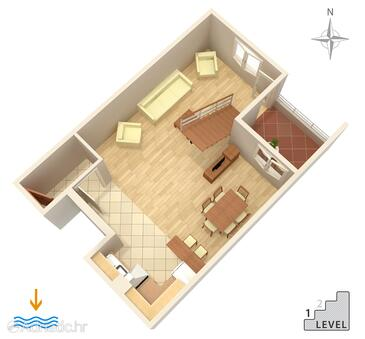 Omiš, Plan in the apartment, (pet friendly) and WiFi.