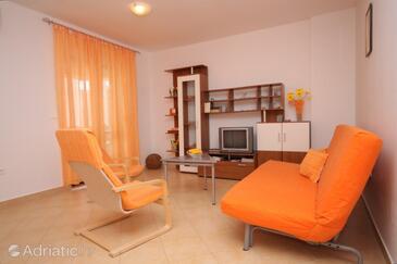 Valbandon, Living room in the apartment, dostupna klima, dopusteni kucni ljubimci i WIFI.